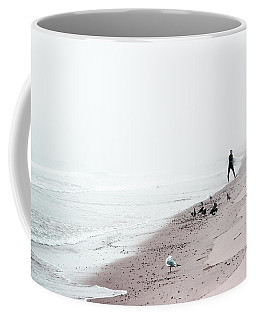Coffee Mug featuring the photograph Surfing Where The Ocean Meets The Sky by Brooke T Ryan