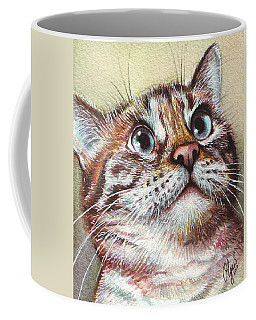 Surprised Kitty Coffee Mug by Olga Shvartsur