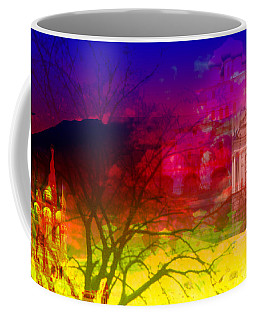 Coffee Mug featuring the digital art Surreal Buildings  by Cathy Anderson