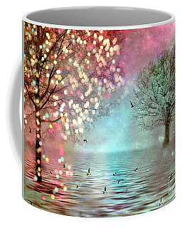 Nature Fantasy Trees Surreal Dreamy Twinkling Fantasy Sparkling Nature Trees Coffee Mug