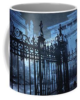 Surreal Gothic Savannah Mansion Black Rod Iron Gates Coffee Mug by Kathy Fornal