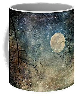Surreal Night Sky Moon And Stars Coffee Mug