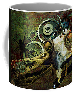 Coffee Mug featuring the painting Surreal Nightmare by Ally  White
