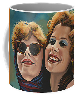 Susan Sarandon And Geena Davies Alias Thelma And Louise Coffee Mug by Paul Meijering