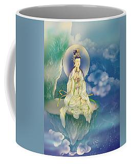 Sutra-holding Kuan Yin Coffee Mug by Lanjee Chee