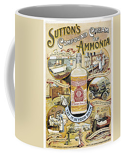Coffee Mug featuring the photograph Sutton's Compound Cream Of Ammonia Vintage Ad by Gianfranco Weiss