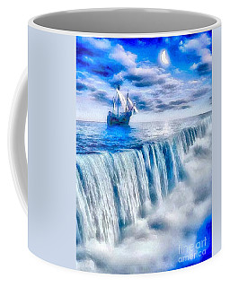 Coffee Mug featuring the painting Swallow Falls by Catherine Lott