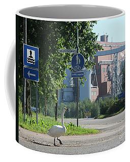 Swan Lost The Beach Coffee Mug