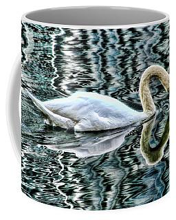 Swan On Lake Eola By Diana Sainz Coffee Mug