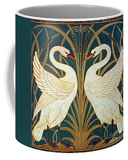 Swan Rush And Iris Coffee Mug by Walter Crane