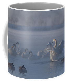 Coffee Mug featuring the photograph Swan Showing Off by Patti Deters