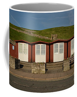 Swanage Beach Huts Coffee Mug by Linsey Williams