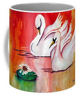 Swans In Love Coffee Mug