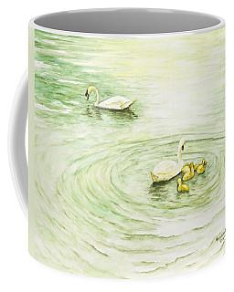Swans In St. Pierre Coffee Mug