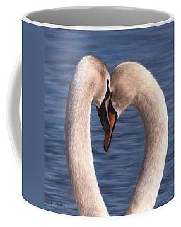 Swans Painting Coffee Mug by Rachel Stribbling