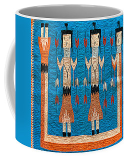 Coffee Mug featuring the photograph Swap Meet Rug by Dan McManus