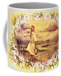 Coffee Mug featuring the painting Sweet Memories A Trip To The Shore by Irina Sztukowski