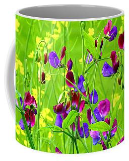 Coffee Mug featuring the photograph Sweet Peas by Byron Varvarigos