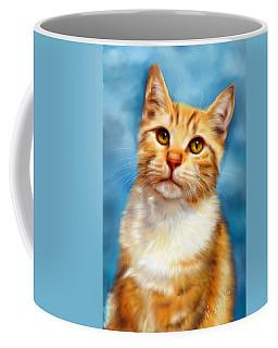 Sweet William Orange Tabby Cat Painting Coffee Mug