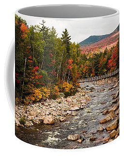 Coffee Mug featuring the photograph Swift River Painted With Autumns Paint Brush by Jeff Folger