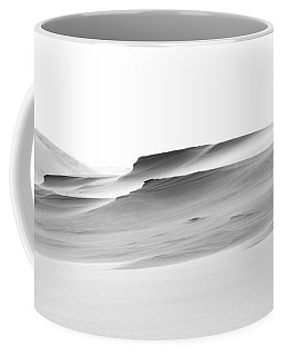 Coffee Mug featuring the photograph Swiftly Moving Dunes by Adria Trail