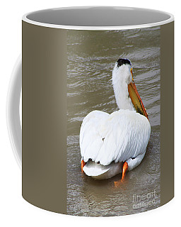 Coffee Mug featuring the photograph Swimming Away by Alyce Taylor