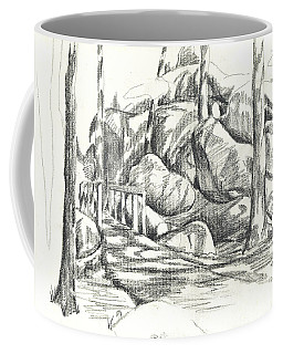 Coffee Mug featuring the drawing Swirling Cast Shadows At Elephant Rocks  No Ctc101 by Kip DeVore