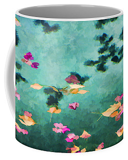 Swirling Leaves And Petals 6 Coffee Mug