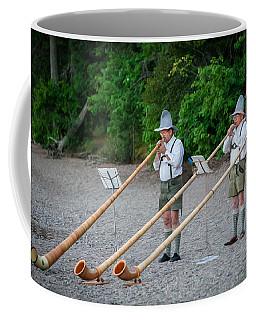 Swiss Alpine Horns Lake Mcdonald Glacier National Park Coffee Mug