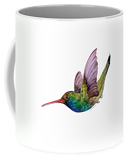 Swooping Broad Billed Hummingbird Coffee Mug