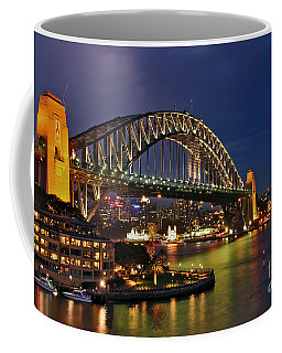 Sydney Harbour Bridge By Night Coffee Mug