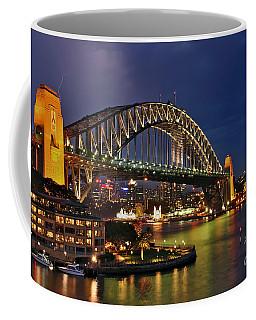 Sydney Harbour Bridge By Night Coffee Mug by Kaye Menner