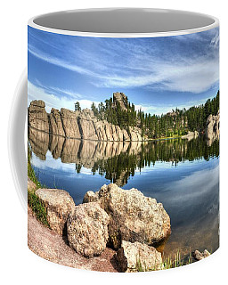 Coffee Mug featuring the photograph Sylvan Lake Reflections 2 by Mel Steinhauer