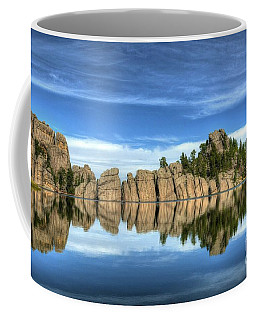 Coffee Mug featuring the photograph Sylvan Lake Reflections by Mel Steinhauer