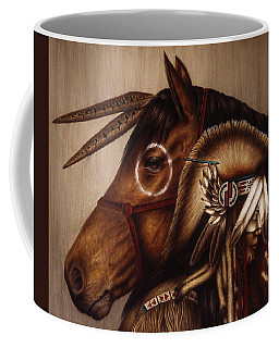 Coffee Mug featuring the painting Symbionts by Pat Erickson