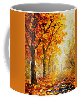 Symbols Of Autumn - Palette Knife Oil Painting On Canvas By Leonid Afremov Coffee Mug