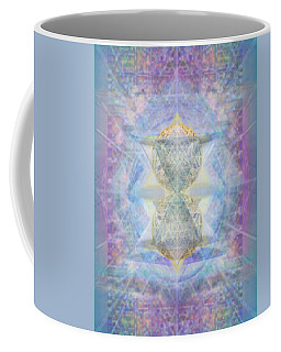 Synthecentered Doublestar Chalice In Blueaurayed Multivortexes On Tapestry Lg Coffee Mug