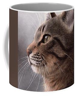 Tabby Cat Painting Coffee Mug by Rachel Stribbling