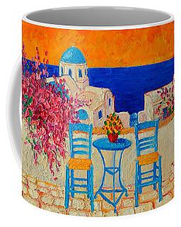 Table For Two In Santorini Greece Coffee Mug