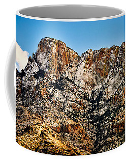 Coffee Mug featuring the photograph Table Mountain In Winter 42 by Mark Myhaver