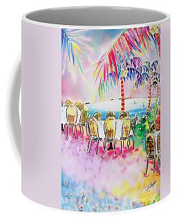 Tables On The Beach Coffee Mug