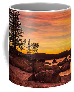 Coffee Mug featuring the photograph Tahoe Golden Sunset by Steven Bateson