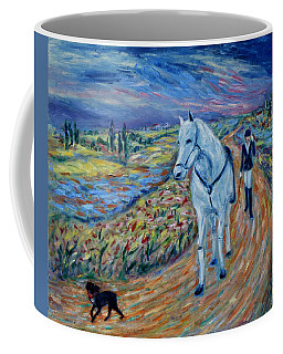 Coffee Mug featuring the painting Take Me Home My Friend by Xueling Zou