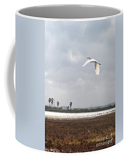Coffee Mug featuring the photograph Take Off by Erika Weber