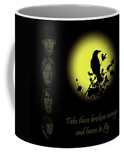 Take These Broken Wings And Learn To Fly Coffee Mug by David Dehner