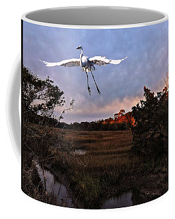 Coffee Mug featuring the photograph Taking Flight by Laura Ragland