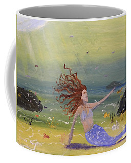 Talking To The Fishes Coffee Mug by Pamela  Meredith