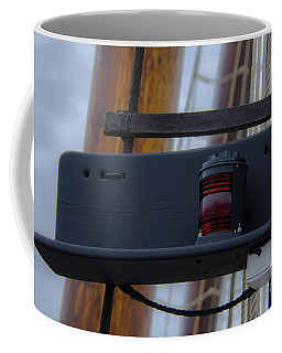 Coffee Mug featuring the photograph Tall Ship Bow Light by Dale Powell