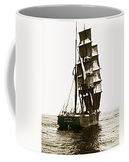 Coffee Mug featuring the photograph Tall Ship Germania Out Of San Francisco California  Circa 1900 by California Views Mr Pat Hathaway Archives