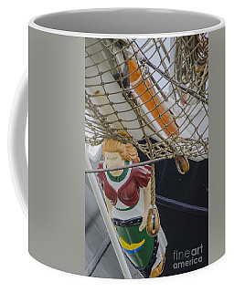 Coffee Mug featuring the photograph Tall Ship Gunilla Masthead by Dale Powell